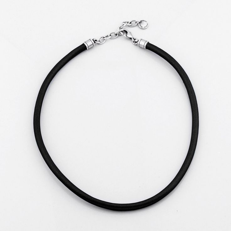 Miglio Designer Jewellery - Sleek Black Sewn Leather Necklace, R299.00 (http://shopza.miglio.com/shop-by-product/sleek-black-sewn-leather-necklace/)