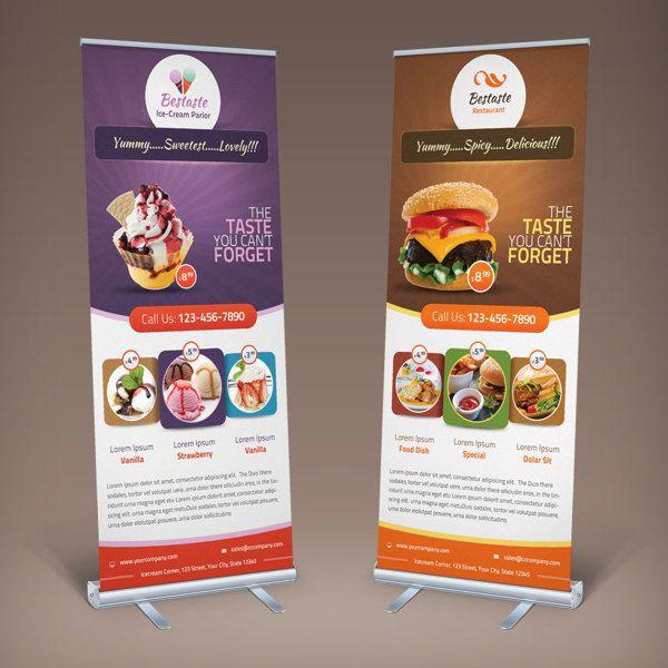 Bestaste Food Billboard & Roll Up Banner by saptarang, via Behance