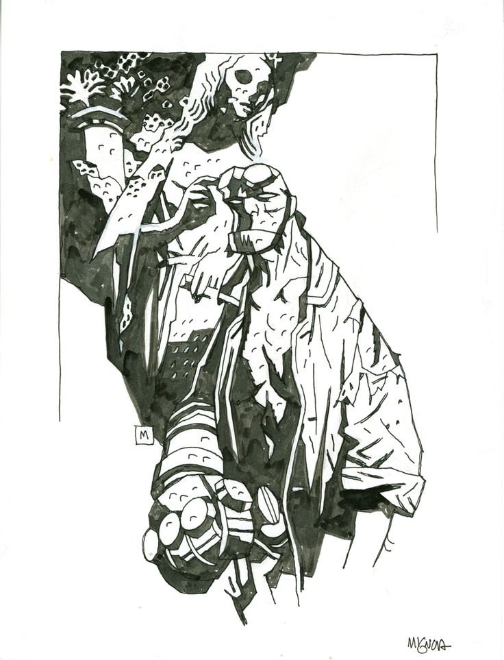 Hellboy  Comic Art