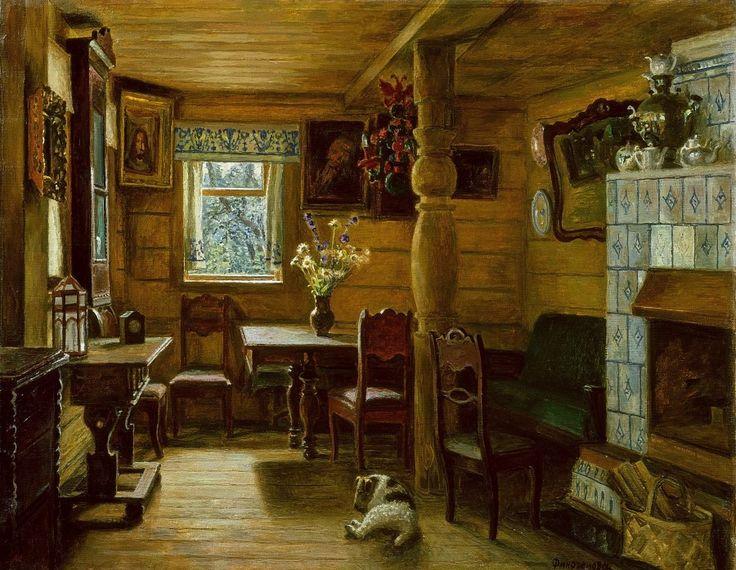 Финогенова Млада Константиновна (Россия, 1941) «Дождливое лето» 1990