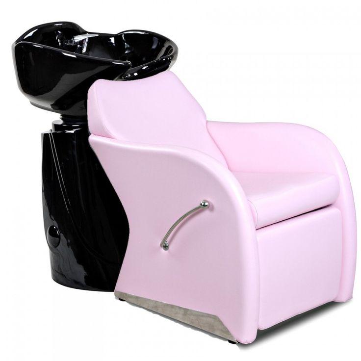 Leisure pink beauty salon shampoo chair sink bowl unit