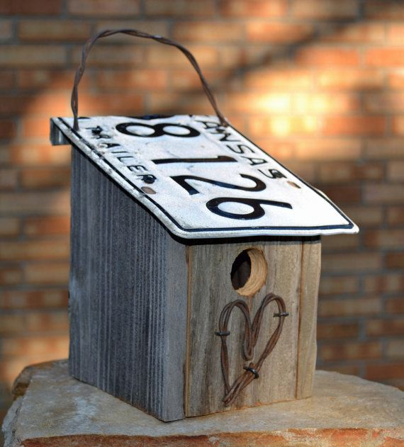 Rustic birdhouse Farm house birdhouse Rustic by ruraloriginals