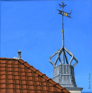 Postcards from Amsterdam #0 Tourist office, Central Station. Oil on panel. 15 x 15 cm. http://www.postcardsfromamsterdam.eu