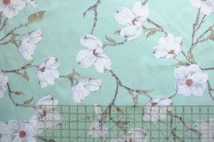 TKANINA dekoracyjna Magnolia na Mięcie