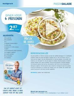 Pastasalade met o.a. kipfilet, ananas, appel, en yoghurt Lidl - Sonja Bakker