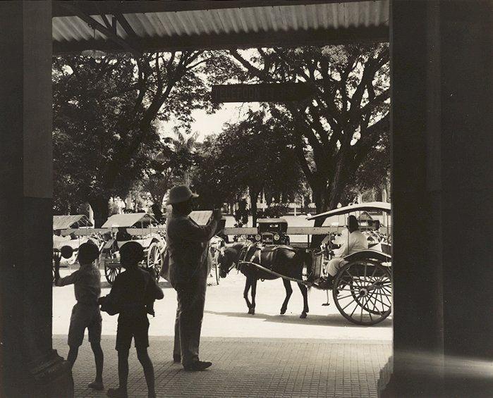 Plein in Medan, Sumatra, Indonesië (1936)