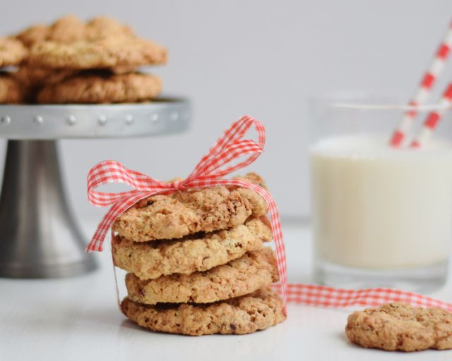 coconut oatmeal cookies, cookies with milk by www.fresshion.com