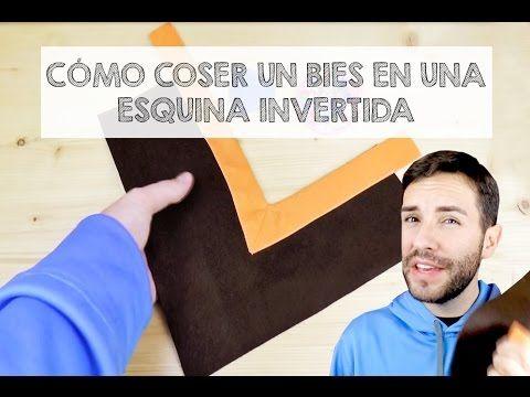 COSER BIES EN ESQUINA INVERTIDA O ENTRANTE DE 90º - Aprender a coser