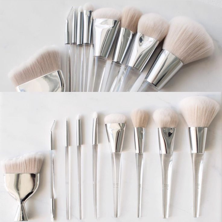 ⚡️UPDATE⚡️ Elf Cosmetics NEW Precise Brush Collection Bottom pic L-R: •Multi Blender Massager $12 for foundation, powder, or bronzer. •Dual Sided Eyebrow Brush $5: for the brows - spoolie and an angled tip. •Eyeliner Brush $5 •Smoky Smudge Brush $5...