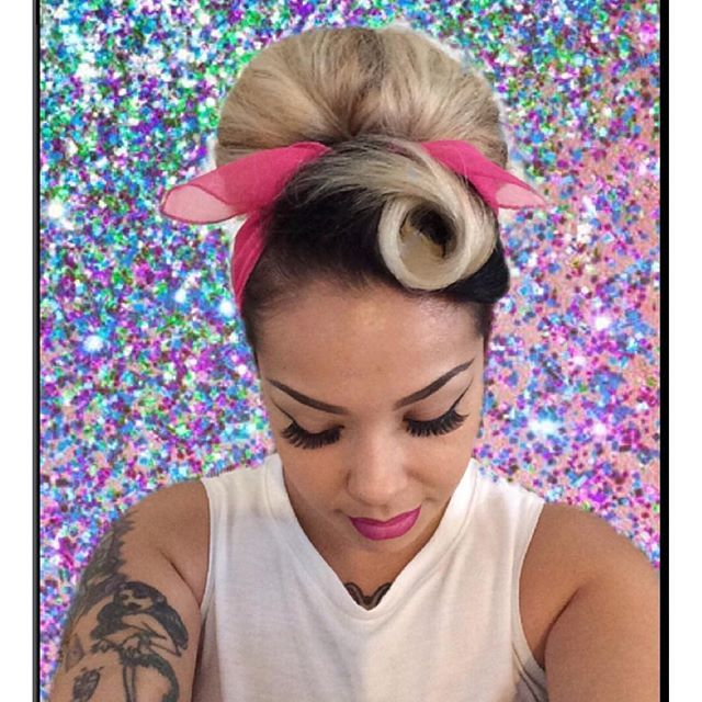 """""""My lazy hair day. All you need is 1. hair tie 2. hair scarf 3. bobbypins 4. pomade.""""- Sue Velazquez. #suavecitapomade #lazyhair #lazyhairday"""