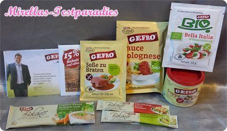 Gratis Probierpaket von GEFRO - Suppen, Saucen und mehr | Mirellas Testparadies
