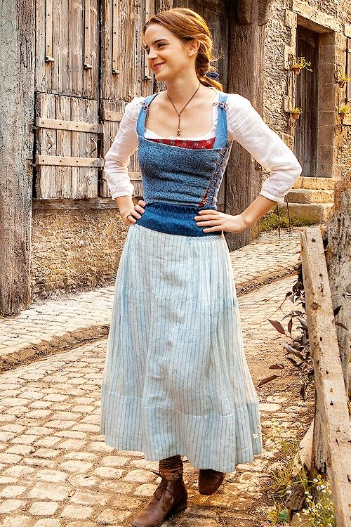 Emma Watson behind the scenes of Disney's upcoming Beauty and the Beast  (2017)