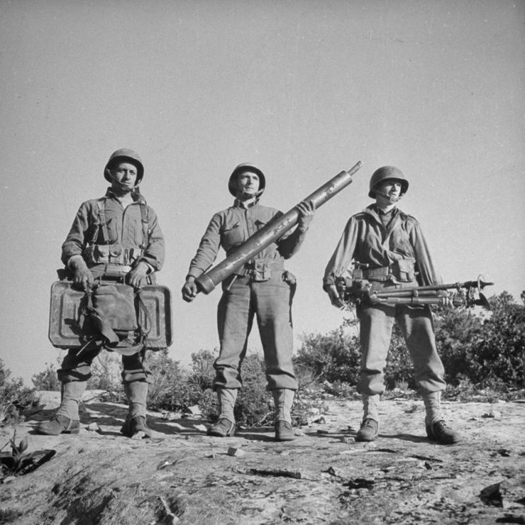 American Soldiers In North Africa During The Allied