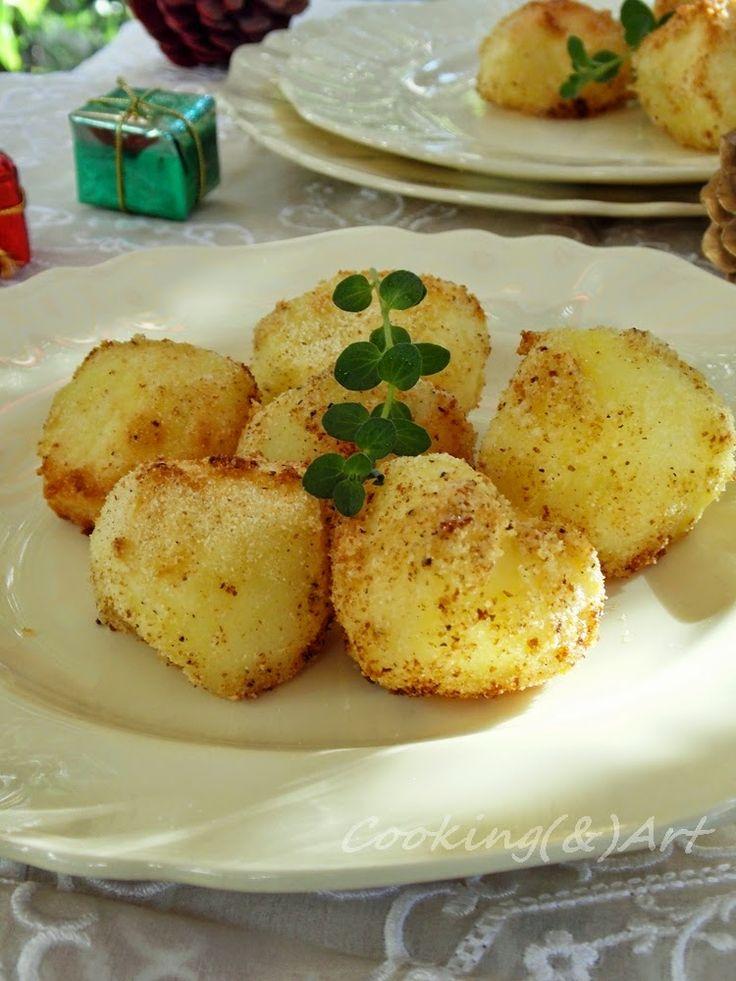 Μαγειρική(&)Τέχνη!: Πατάτες στο φούρνο με σιμιγδάλι & γαλέτα / Baked Potatoes with semolina & breadcrumbs!