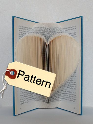 The Folded Book Page - Folded Book Art - Book folding Pattern Heart, English