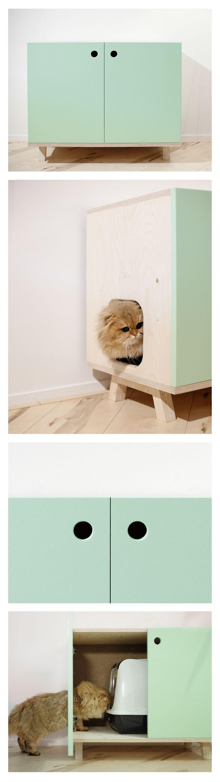 Kattenmeubel voor kattenbak Litterbox cat furniture cabinet #CatFurniture