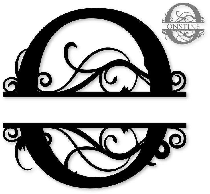 Quotoquot split monogram silhouette pinterest silhouette for Letter o monogram