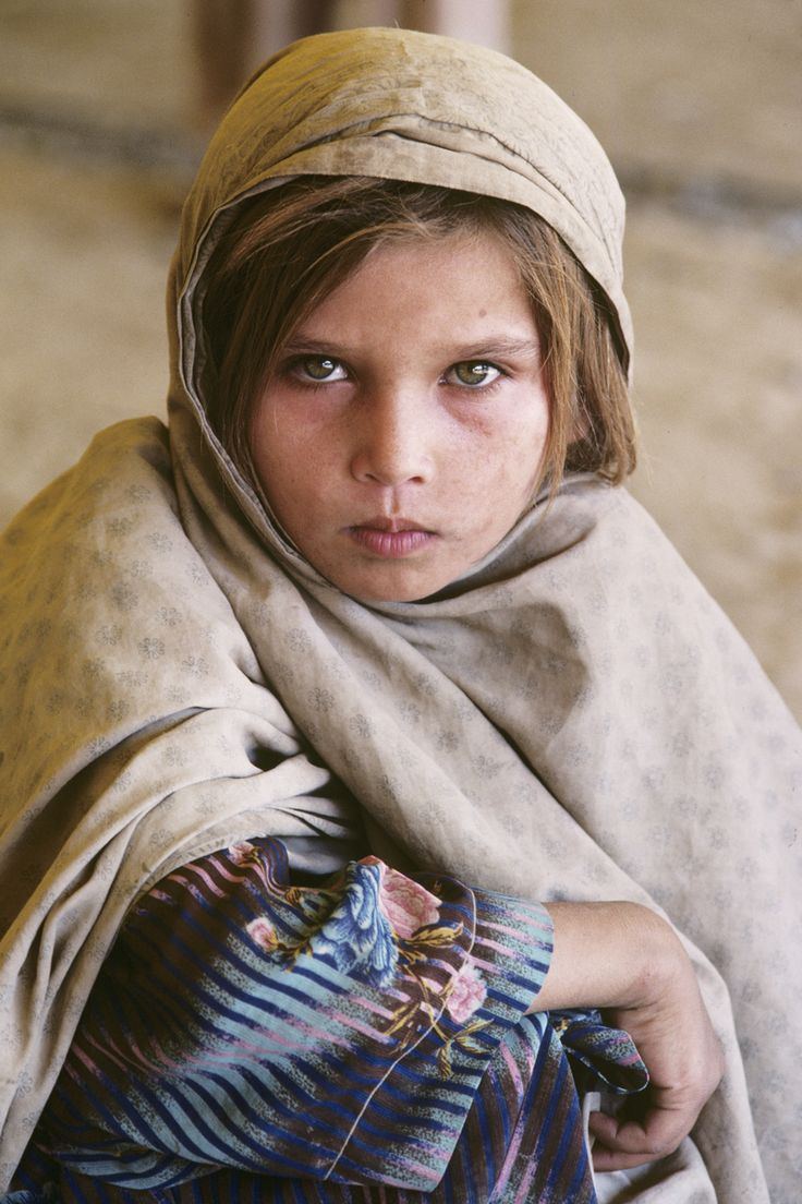 Steve McCurry Studios: From her poise and determined expression, one can assume that this girl has witnessed much during her few short years. Photographed in Ghazni, Afghanistan