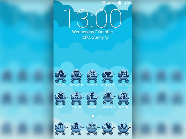 You will be enchanted by this lovely Baby Blue #Icons theme, that will make your #gadget look so cute. Express your sensitive side with this tender Baby Blue #theme.