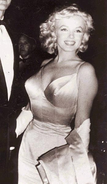 "Marilyn Monroe at the premiere of ""The Prince and the Showgirl"", 1957."