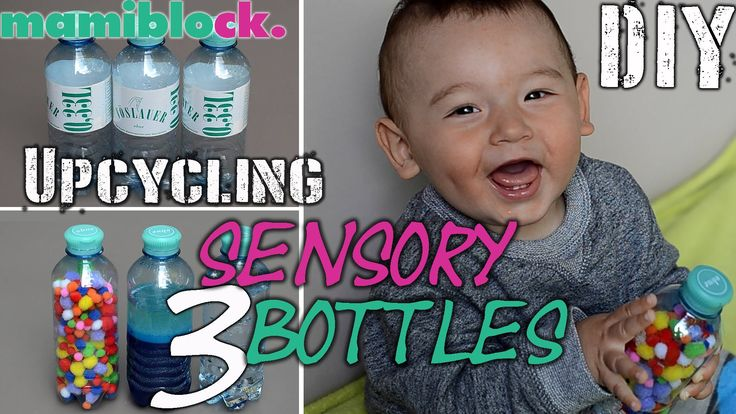 DIY Sensory Bottles   Upcycling   3 baby toys   Spielerisch fördern   ma...