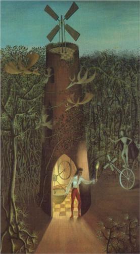 Artist Remedios Varo (Spanish-Mexican:1908-1963) | My friend Agustin Lazo - 1945
