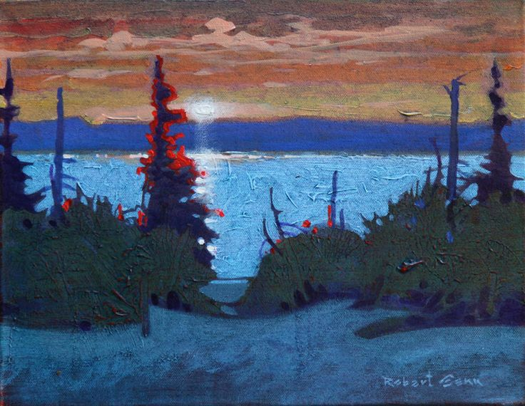 Robert Genn, Canadian Painter :: Evening, Pender Island, acrylic painting