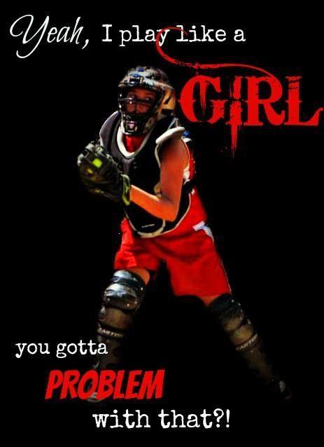Softball catcher/pitcher:)
