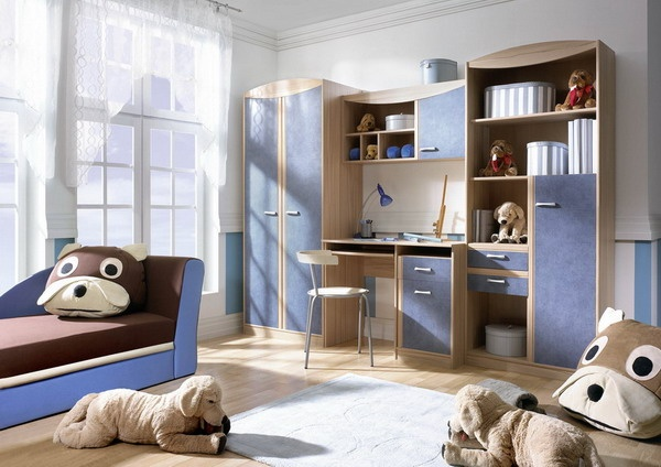 Dětský nábytek - modrá, hnědá http://www.vybersito.cz/oddeleni/103/detsky-pokoj/