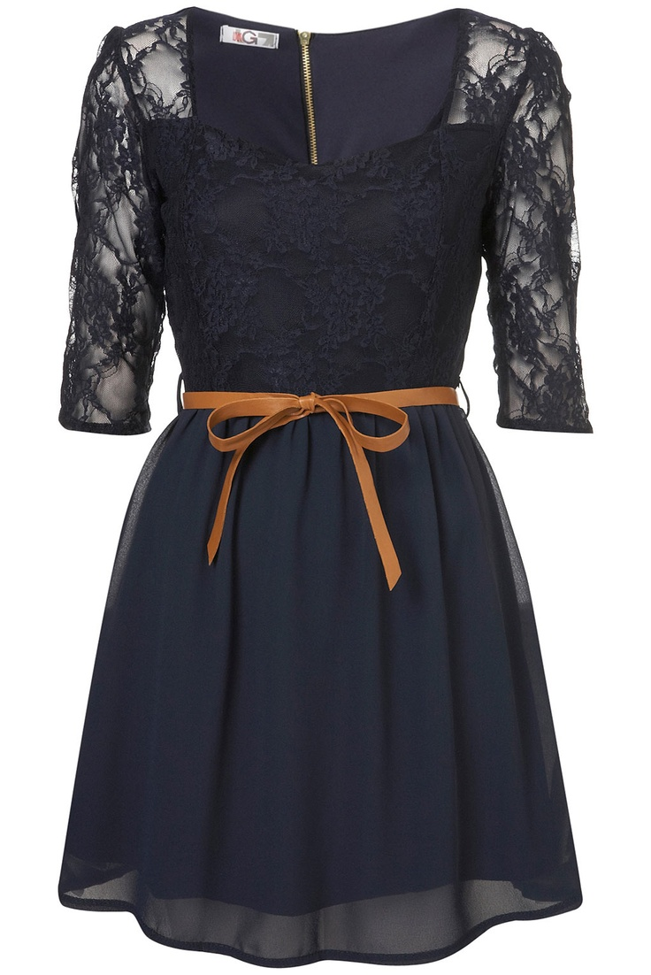 LACE SWEETHEART DRESS BY WAL G from TOPSHOP