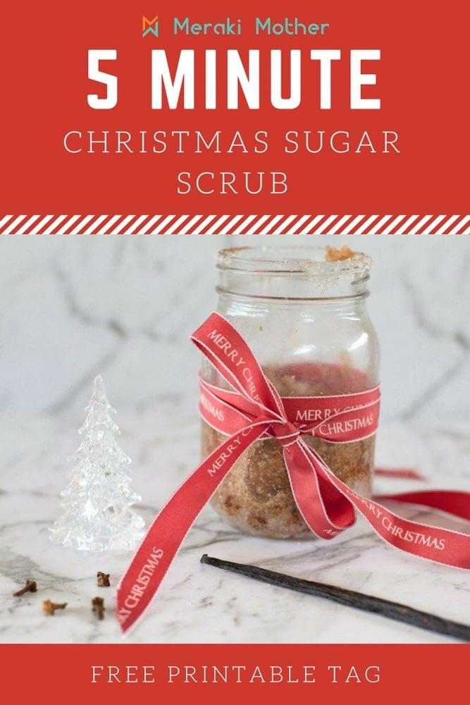 Easy Mason Jar Gift Christmas Sugar Scrub Meraki Mother Christmas Sugar Scrubs Christmas Jar Gifts Mason Jar Gifts