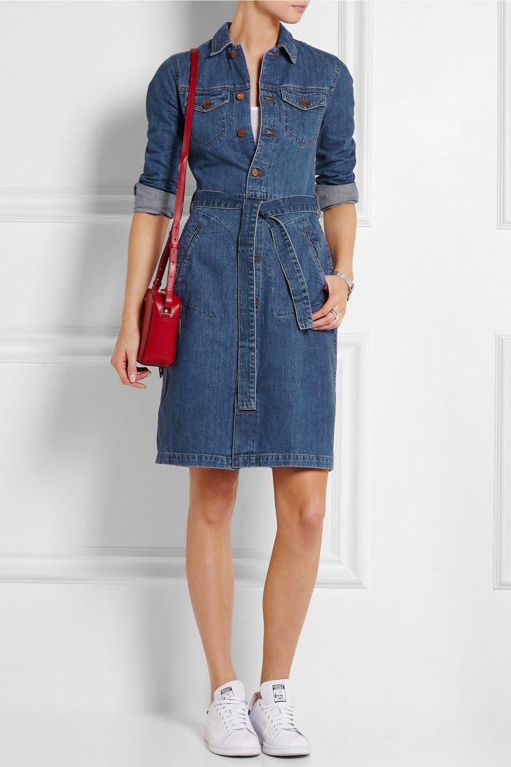 Madewell | Belted denim shirt dress | NET-A-PORTER.COM