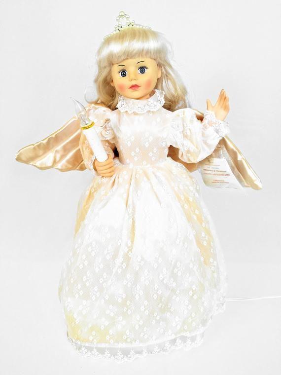 1988 Telco Motion Ette Animated Lighted Christmas Angel Etsy Ho