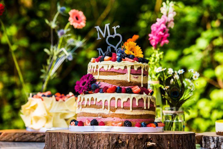 micha en diana's pattiserie bruidstaart paviljoen puur diemen naked wedding cake