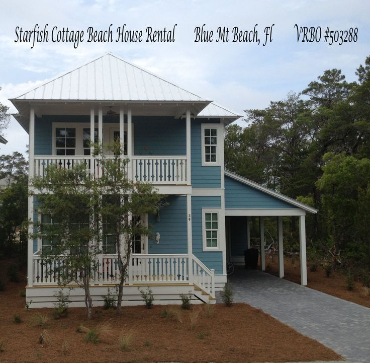 46 best starfish cottage 30a beach house rental blue mt for Flair custom homes