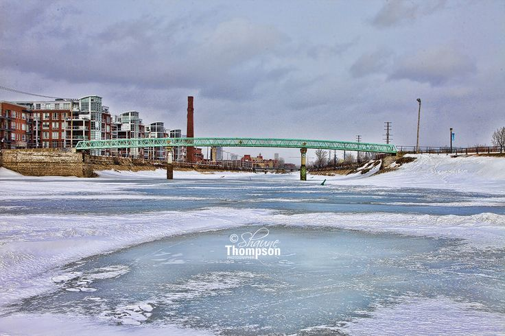Lachine Canal. The foot bridge in February.