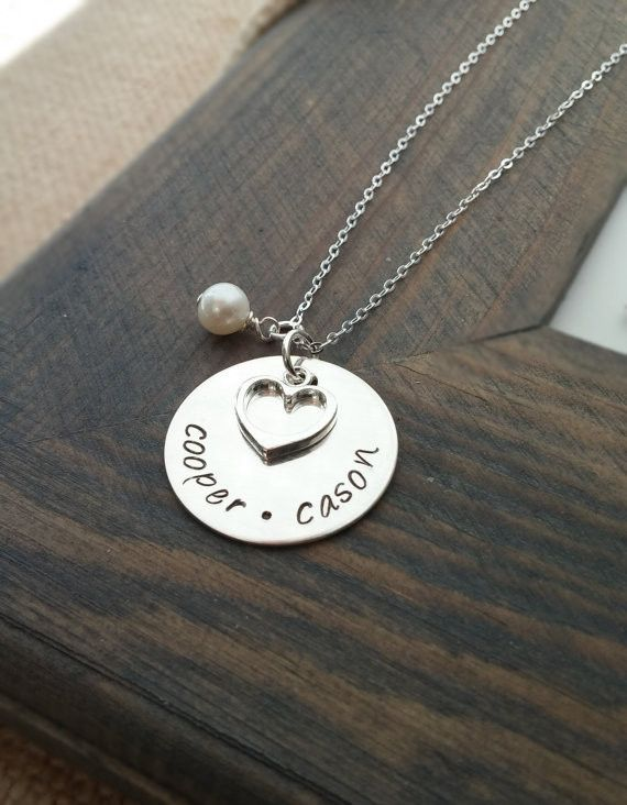 Custom Initial Necklace Monogram,Pendants for Engraving Name Love Heart Necklace,Pearl Jewelry Statement Necklace for Women 2015