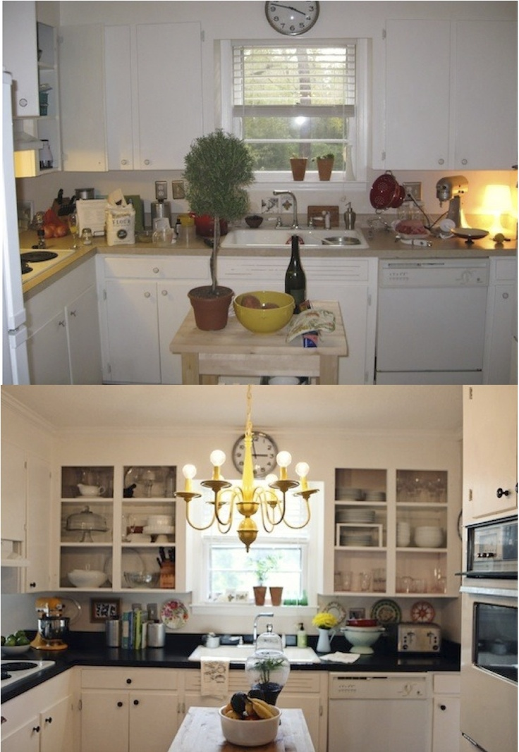 17 best ideas about budget kitchen makeovers on pinterest for Cheap kitchen makeover ideas
