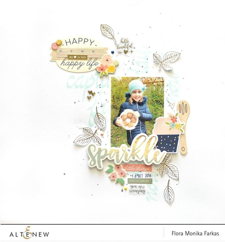 Check out this beautiful 12 x 12 scrapbook layout stamped with Super Script Scrapbook and Bold Blossom set. To learn move visit our blog. http://altenewblog.com/2016/10/31/super-script-scrapbook/