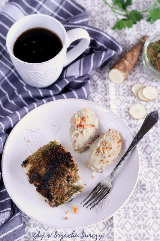 Ryba w razowej panierce z puree z topinamburu