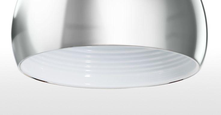 Boule Hängelampe, Chrom und weißer Glanzlack ► Moderne Design-Leuchten in vielen Styles! Entdecke jetzt die neuesten Lampentrends bei MADE.
