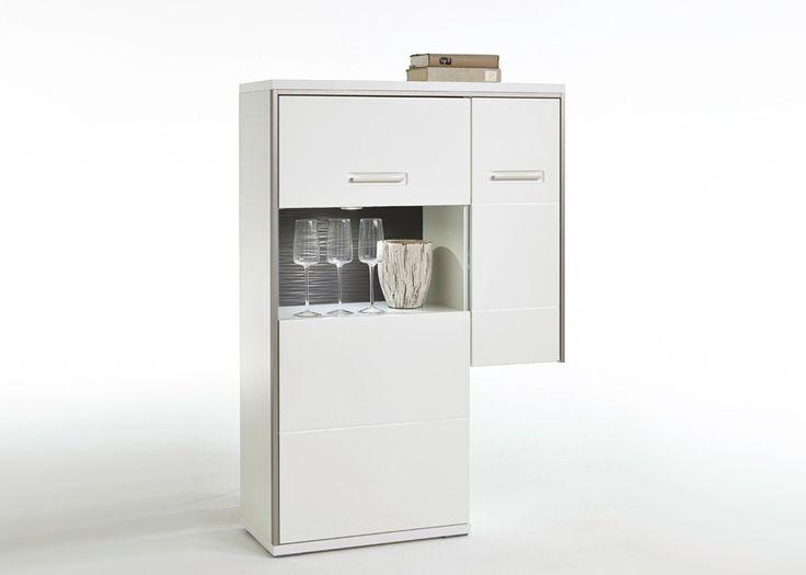 Anstellhighboard Trento Weiss Hochglanz Grau 20693 Buy Now At