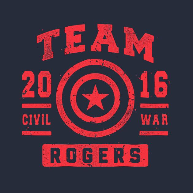 TEAM ROGERS T-Shirt - Captain America T-Shirt is $11 today at TeeFury!