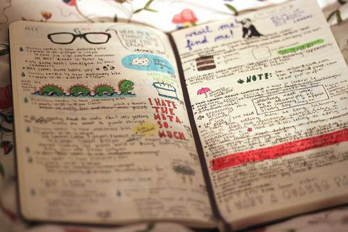 Making doodles in my journal