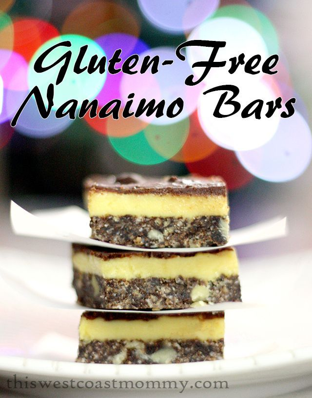 These gluten-free Nanaimo bars are made with a base of chocolate coconut gluten-free graham cookie crumbs, custard icing, and a layer of chocolate on top.