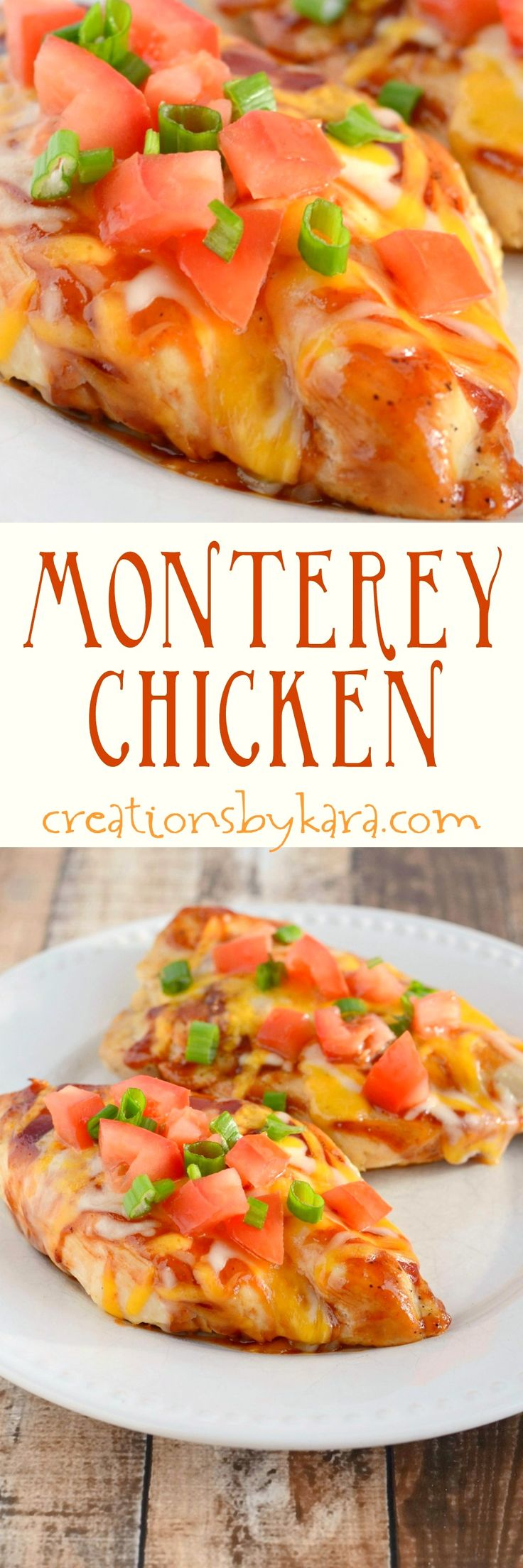 Loaded with bacon, cheese, and BBQ sauce, this Monterey Chicken always gets rave reviews. One of my favorite restaurant copycat recipes!