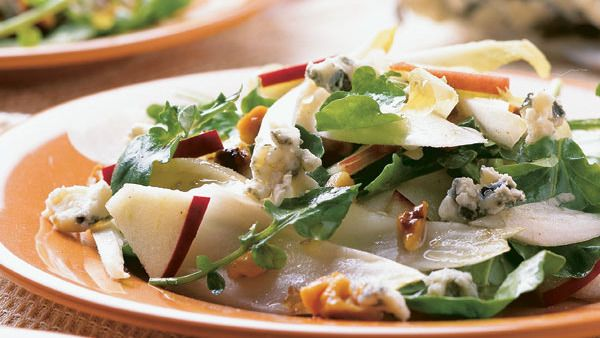 Endive, Apple & Walnut Salad with Roquefort - FineCooking