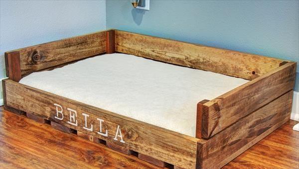 DIY Pallet Dog Bed                                                       …