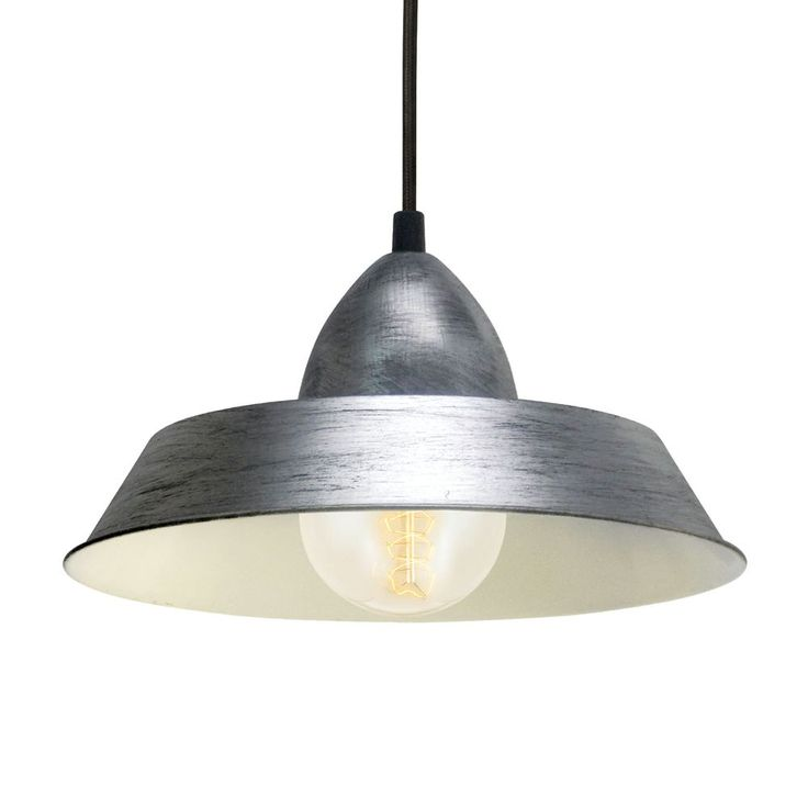 Vintage Antique Silver Steel Industrial Pendant Light. This light fitting adds a Retro Style to  sc 1 st  Pinterest & 81 best Breakfast Bar Lights images on Pinterest | Breakfast bar ... azcodes.com