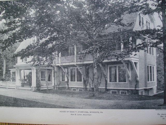 House of Isaac T. Starr, Esq. , Wyncote, PA, 1903, Adin B. Lacey